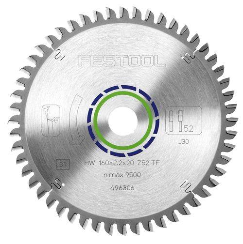 Festool Hoja de sierra especial 160x2,2x20 TF52