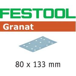 FESTOOL HOJA DE LIJAR STF 80X133 P80 GR/50 Granat