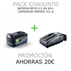 PACK BATERIA BP18 Li 5,2 AS + CARGADOR RÁPIDO TCL 6
