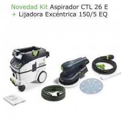 KITR LIJADORA ETS EC 150/5 + ASPIRADOR CTL 26 + TALADRO C18