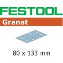 ABRASIVO GRANAT RECT 80X133