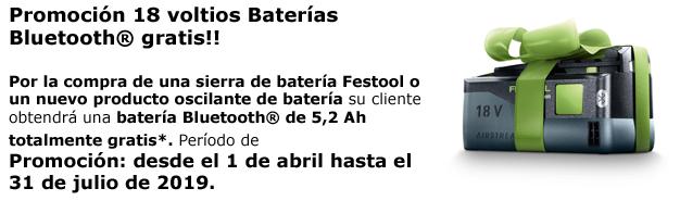 Promoción de batería Bluetooth gratis para Sierras de Batería y Oscilante
