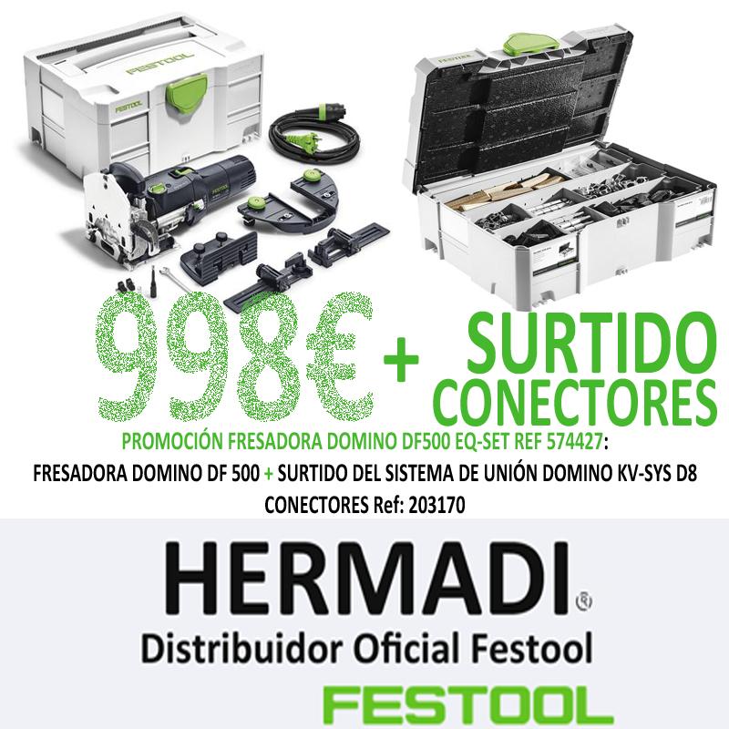 PROMOCIÓN FRESADORA DOMINO DF 500 SET + SURTIDO DE CONECTORES DF 500