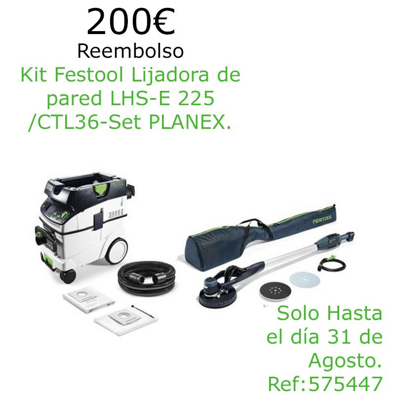 Oferta Kit Lijadora de Pared Planex más Aspirador CTL36-SET